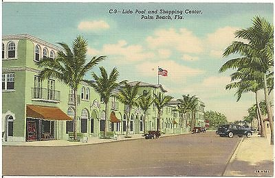 Lido Pool and Shopping Center in Palm Beach FL Postcard