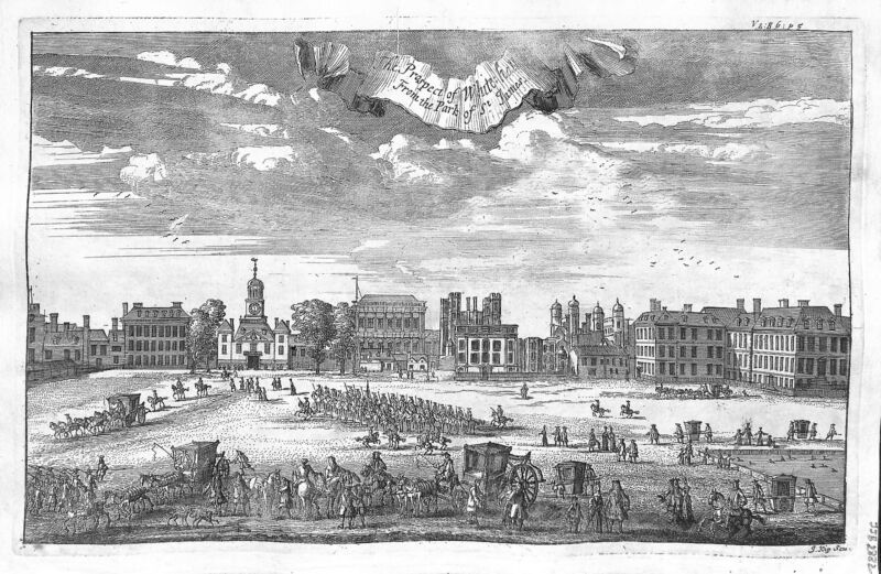 Antique maps, The prospect of Whitehall from the park of St James