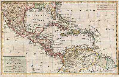 1765 Isaak Tirion Map of Central America and the West