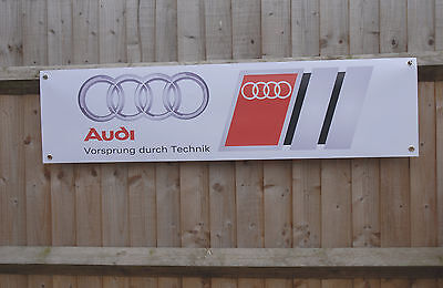 AUDI Car Workshop PVC Advertising Banner sign for Garage or Showroom