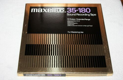 """New Open Box 10.5"""" MAXELL UD 35-180 Metal Reel to Reel Sound Recording Tape *NOS"""