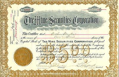 The Mine Securidies Corporation von 1906 - S E L T E N -