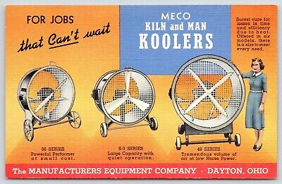 Dayton OH~Manufacturers Equip~Industrial Fans~Meco Kiln & Man Koolers~1941 Linen for sale  Newton