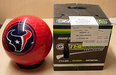 12 Bowling Ball Otb Viz-a-ball Retired Rare 2010 Nfl Houston Texans