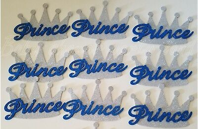 10 Baby Shower Prince Silver Crowns Foam Party Decorations its a Boy Favors Game