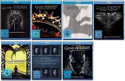 Game of Thrones Staffel 1-7 (1+2+3+4+5+6+7) Blu-ray Set NEU OVP