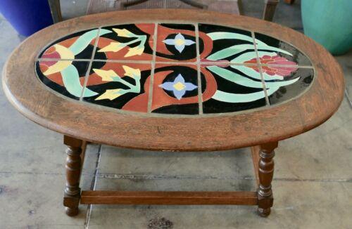 Vintage Gladding McBean Tile Table in Wood