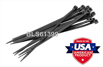 10 Usa Made Tough Ties 24 Inch 175lb Nylon Tie Wraps Wire Cable Zip Ties Black