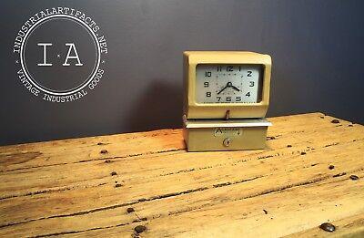 Midcentury Acroprint Industrial Timeclock