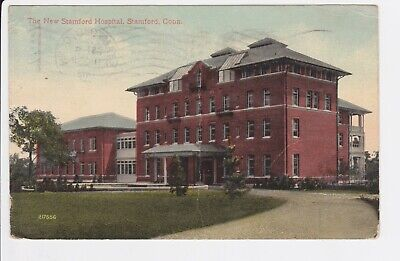 Connecticut The New Stamford Hospital 1916 Medical center view Postcard (The Connecticut Post)