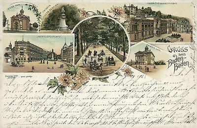 Ansichtskarte Baden-Baden 1896 (Nr.757)