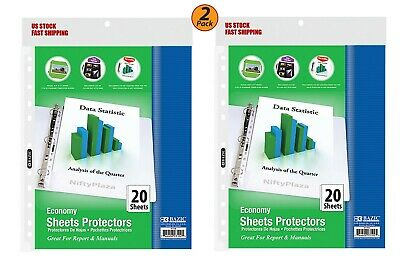 2 Pack - Economy Weight Top Loading Sheet Protectors 20pack - Protect Papers