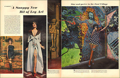 1960s vintage 60s Fashion Article Snappy New Leg Art Hippy era Clothes   041518