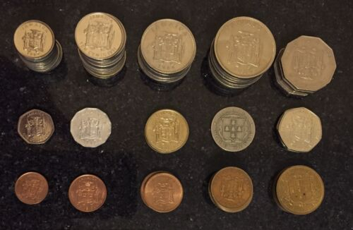 Coin Collection Of Jamaica, (80) Different Coins, List in Description Area