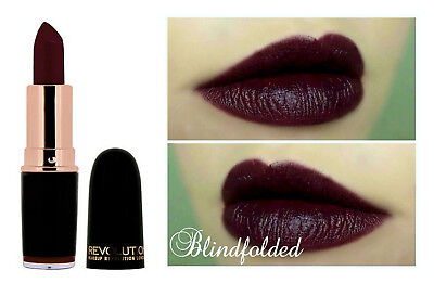 MAKEUP REVOLUTION Iconic Pro Lipstick 'Blindfolded' Dark Purple Gothic HALLOWEEN