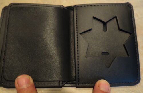Deluxe Bi-Fold Seven Point Star  badge case (No brand but no Big Brand cost!)