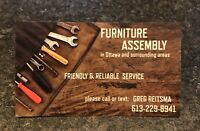 FURNITURE ASSEMBLY /.  ASSEMBLY SERVICES