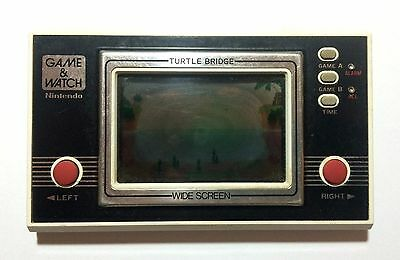 USED Nintendo Game & Watch TURTLE BRIDGE w/o Battery Cover JAPAN GW G and W