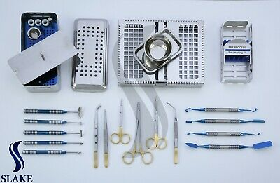 Dental Implant Prf Grf Box Implantology Soft Tissue Brushing Kit Inst. Cassette