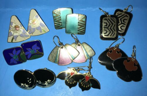 Signed Vintage Laurel Burch Earrings - You Pick from 8 pairs