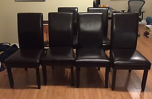 Espresso parson dining chairs (set of 6)