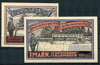 Scharmbeck 50 Pfennig + 1 Mark Serie kompl. ohne zusätzliche Aufdrucke ( I )