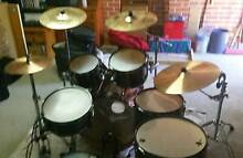 Tama Hyperdrive kit, plus cymbals, hardware and soft cases Glenfield Campbelltown Area Preview
