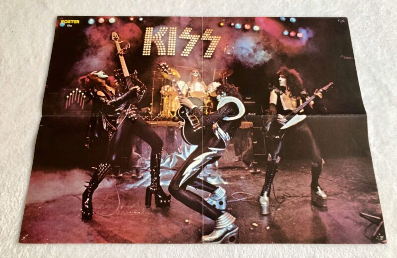 KISS 1975 ALIVE I - Sweden Swedish Poster Magazine 1970s Rare Vintage