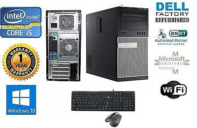 """Dell 7010 TOWER i5 2400 Quad 3.1GHz 8GB 120gb SSD Win 10 Pro 64+MONITOR 20"""""""