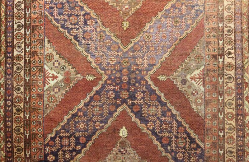Sensational Samarkand - 1880s Antique Khotan Rug - Oriental Carpet - 6.6 X 13.5