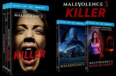 Halloween Trilogy Blu Ray (Malevolence Trilogy Blu-ray/DVD set - Autographed by director •new &)