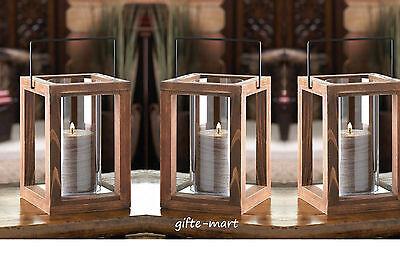 6 bulk lot brown wood framework Candle holder Lantern wedding table centerpiece