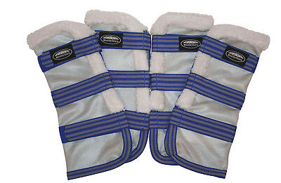Fly Wraps (Weatherbeeta Comfitec Airflow Mesh Wraps Fly Boots with Fleece on)