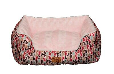 Owl Pet Bed Soft Cute Rectangular Shape Cat Bed Dog Bed with Removable Washable