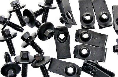 GM Body Bolts & U-nut Clips- M6-1.0 x 22mm Long- 8mm Hex- 40 pcs (20ea)- #137F
