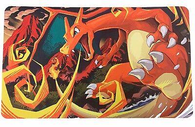 "Pokemon Card Game Playmat - Charizard Fire Blast - Long Gaming Mat 24""x14"""