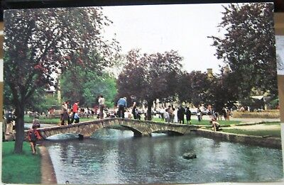 England Bridge over the river Windrush Bourton on the water - posted 1996