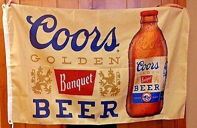 Coors Banquet Beer Flag 3' X 5' Deluxe Indoor Outdoor Banner man cave bar Sales