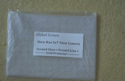 New Shen Hao 5x7 Camera Fresnel Lens + Ground Glass-Best quality