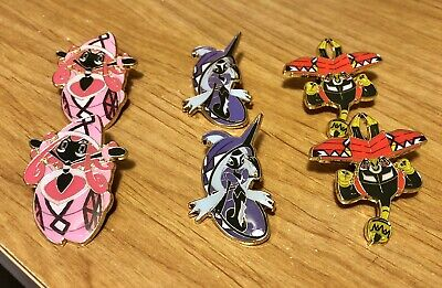 Pokemon Official Pins Island Guardians Set Of 3: Tapu Lele, Tapu Fini, Tapu Bulu