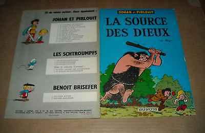 JOHAN ET PIRLOUIT LA SOURCE DES DIEUX SOUPLE RE 1967