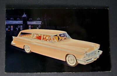 1956 Chrysler New Yorker Town & Country Wagon Postcard Brochure Excellent Orig