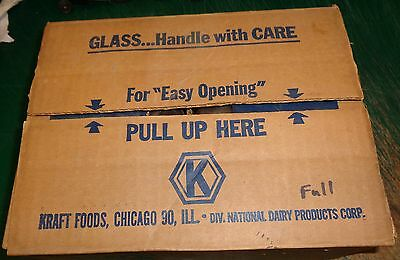 NOS - KRAFT CHEESE SPREAD GLASSES - Case Of 12 - Never Used In Original Box