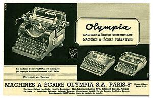 publicit ancienne olympia machines ecrire 1941 p 24 ebay. Black Bedroom Furniture Sets. Home Design Ideas