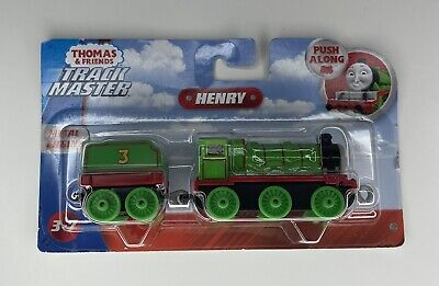 Thomas & Friends Trackmaster Henry Push Along with Metal Train Engine NIB