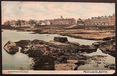 Landsdowne Crescent Portrush Co Antrim Postcard Ireland 1906