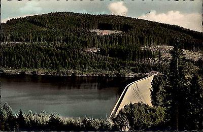 Schluchsee Schwarzwald Ansichtskarte ~1950/60 Seepartie an der großen Staumauer