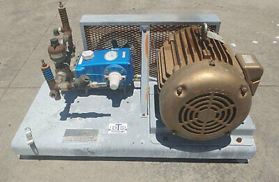 Cat High Pressure Pump 661 Rated To 3000 Psi With 20 Hp Motor