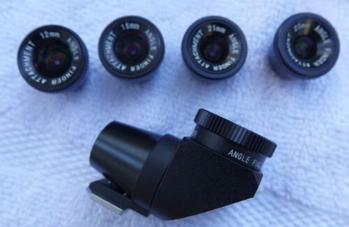 Voigtlander Angle View Finder with 12, 15, 21, 25 viewing attachments Leica