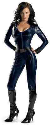 Black Widow Marvel Iron Man Movie Superhero Fancy Dress Halloween Adult Costume